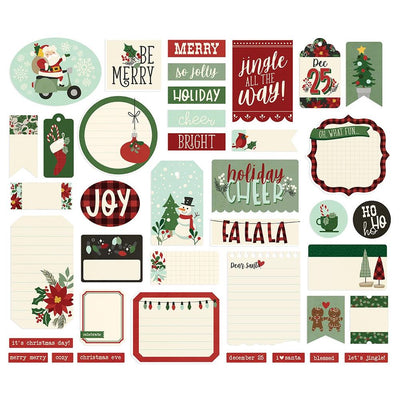 Simple Stories - Jingle All The Way - Journal Bits 39 Pieces