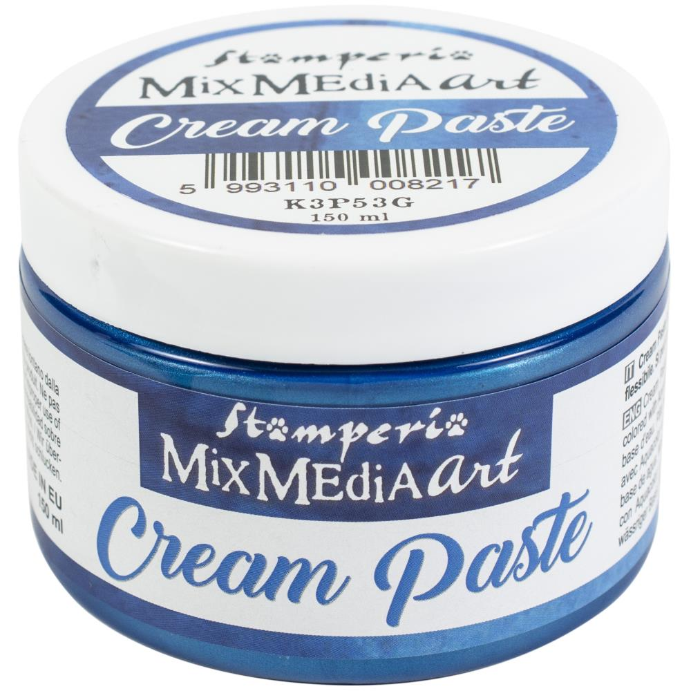 Stamperia Cream Paste - Blue Metallic