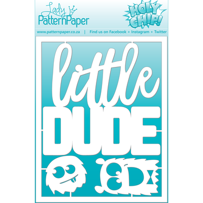 Lady Pattern Paper - Monsters in Space Little Dude Matt Board