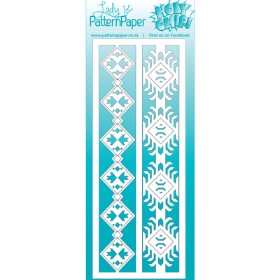 Lady Pattern Paper - Bohemian Muse Tribal Borders Matt Board