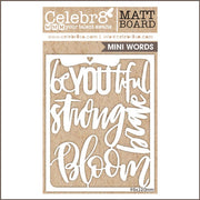 Celebr8 Matt Board - Beautiful Word Pack