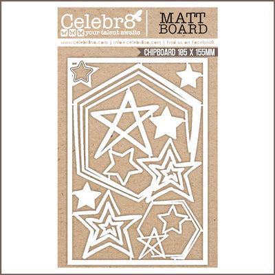 Celebr8 Matt Board - Star Hexagon Frame Set