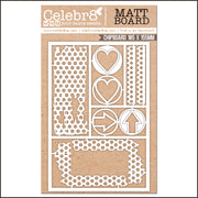 Celebr8 Matt Board - Dotty Grunge Elements