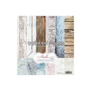 Asuka Studio - Weathered Wood & Crystals - 12x12 Paper Pack