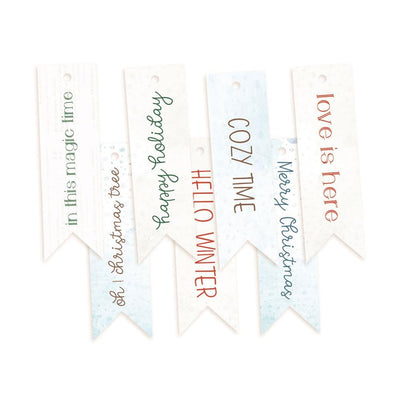 P13 - The Four Seasons - Winter Decorative Tags 7 pcs