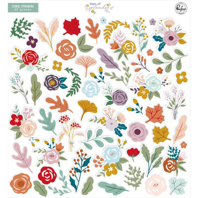 Pinkfresh - Days of Splendor Floral Ephemera 60pcs