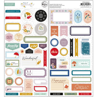 Pinkfresh - Days of Splendor Cardstock Stickers 57pcs