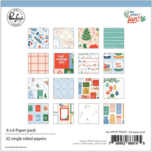 "Pinkfresh - Oh, What Fun Single-Sided Paper Pack 6""X6"" 32/Pkg"