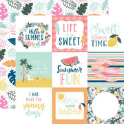 Echo Park - Pool Party Paper - 4x4 Journaling Cards