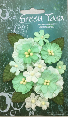 Green Tara - Pastel Flower & Leaf Pack - Green