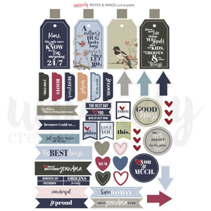 Uniquely Creative - Roots & Wings Cut-a-part Sheet
