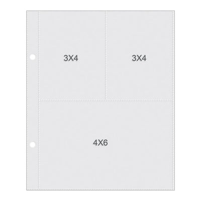 Simple Stories - Sn@p! Pocket Pages for 6x8 Binders - 3x4/4x6