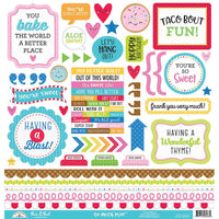 Doodlebug - So Much Pun This & That Cardstock Sticker Sheet