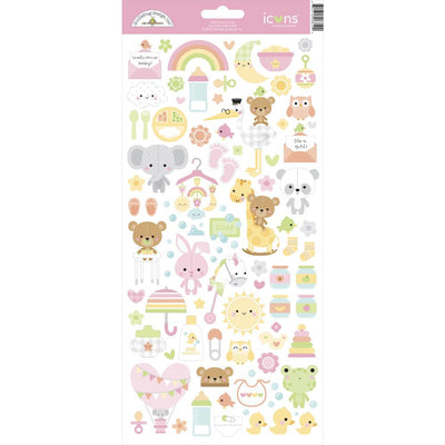 Doodlebug - Bundle of Joy Icon Stickers 6x12