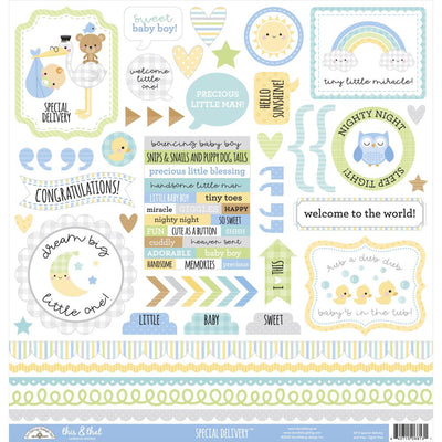 Doodlebug - Special Delivery This & That Cardstock Sticker