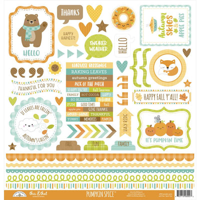 Doodlebug - Pumpkin Spice 12x12 Sticker Sheet