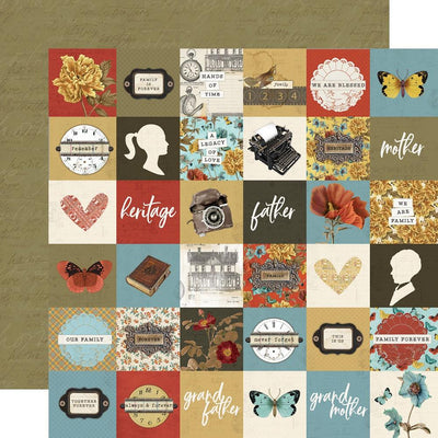 Simple Stories - Simple Vintage Ancestry Paper - 2x2 Elements