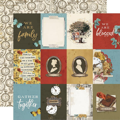 Simple Stories - Simple Vintage Ancestry Paper - 3x4 Elements