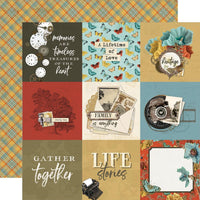Simple Stories - Simple Vintage Ancestry Paper - 4x4 Elements