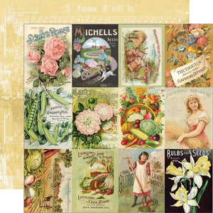 Simple Stories -  Simple Vintage Farmhouse Garden Paper - Seed Packet Elements