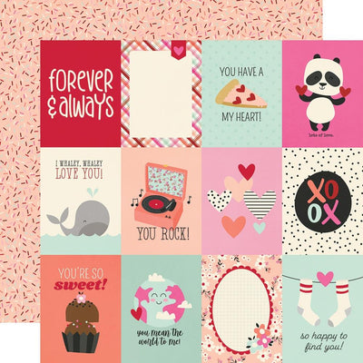 Simple Stories - Sweet Talk Paper - 3x4 Elements