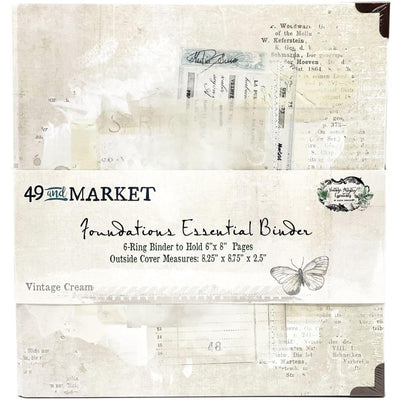 49 & Market Foundations Essential Binder - Vintage Cream