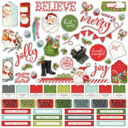 Simple Stories - Simple Vintage North Pole Cardstock Stickers