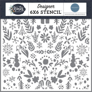 Carta Bella - Winter Market 6x6 Stencil Winter Wonderland