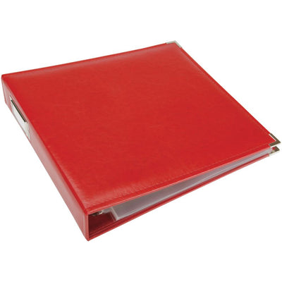 WRMK 12x12 Classic Leather Album - Real Red