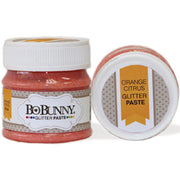 Bo Bunny Double Dot Glitter Paste - Orange Citrus