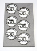 Card - Word Circle Set - Happy Birthday