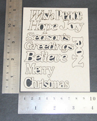 Card -Word Packs - Xmas