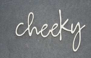 Cheeky - loopy font