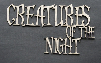 Creatures of the Night Title