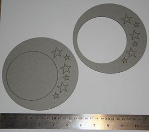 Frame Circle with Stars
