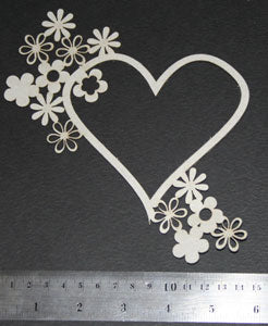 Frame Heart with Flowers