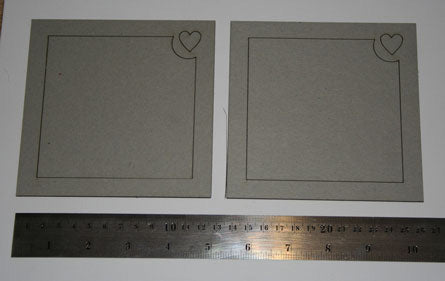 Frame Square with Heart