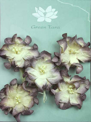 Green Tara - Apple Blossoms - White/Aubergine