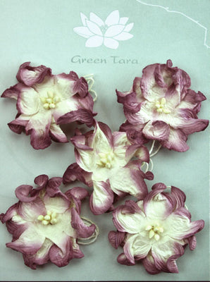 Green Tara - Apple Blossoms - White/Plum