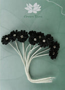 Green Tara - Diamante Silk Flowers  - Black