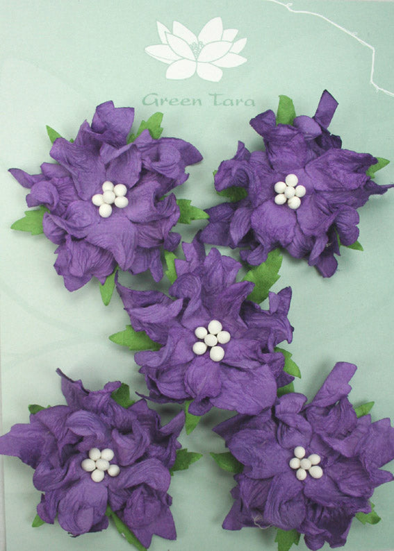 Green Tara - Gardenias - Purple