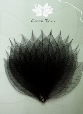 Green Tara - Skeleton Leaves - Black