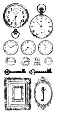Kaisercraft - Clear Stickers - Antiques