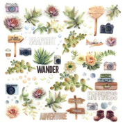 49 and Market - Wander Layered Embellishments 12x12