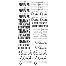 Kaisercraft - Clear Stickers - Friends - Black