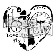 The Crafter's Workshop - Mini Love to Fly 6x6 Template