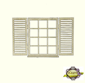 2Crafty - Window Shutter Set 1