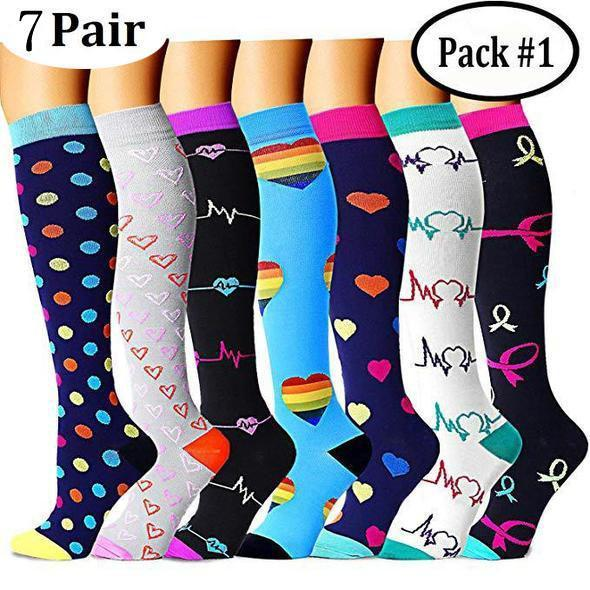 {45% Off Today!} Compression Socks (6/7 Pairs) for Women & Men