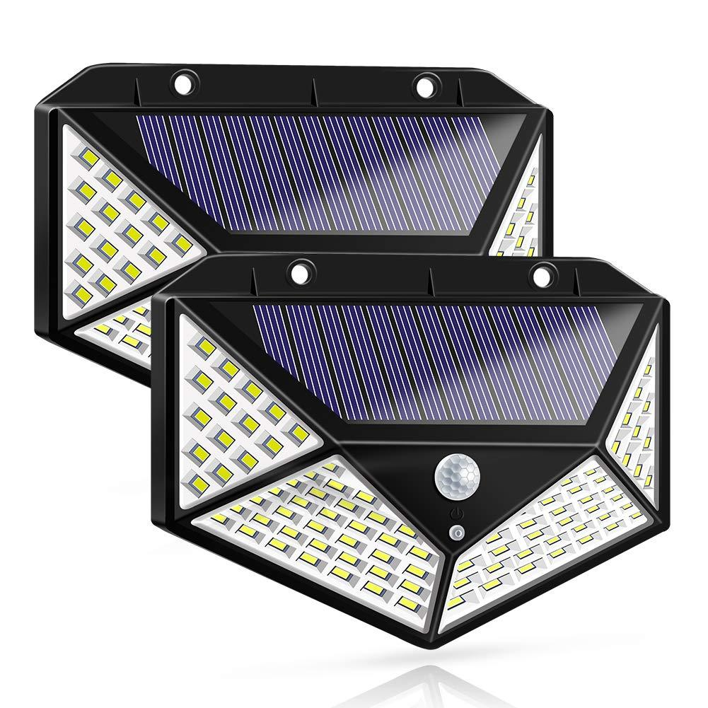 100 LED Four-sided LED Solar Sensor Wall Light