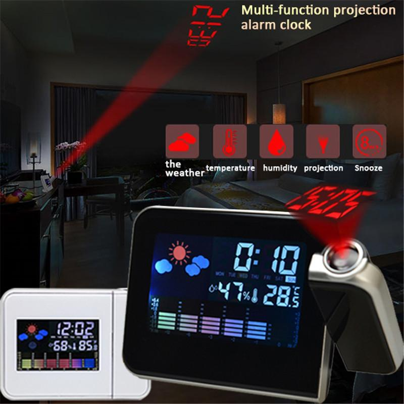LED Digital Projection Alarm Clock with Thermometer